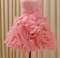 Платье - розы короткое, фото 2