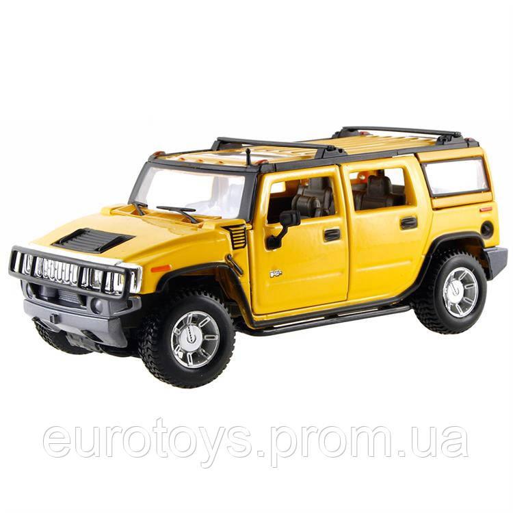 MAISTOАвтомодель (1:27) 2003 Hummer H2 SUV жёлтый
