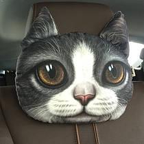 Подушка - подголовник 3D Кошка (04067)