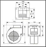 Нагнетательный вентилятор для котла на твердом топливе  М+М WPa 120 HK* 285м3/ч, фото 2