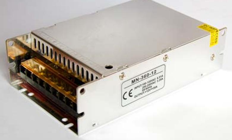 Блок питания для светодиодной ленты 12в 30А 360вт 30А LEDLIGHT IP20 compact SLIM, фото 2