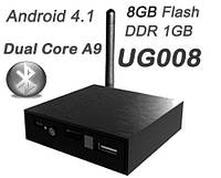 Мини ПК медиаплеер UG008 TV Box Mini PC TV Dongle Dual Core RK3066 1G/8G With HDMI AV Output RJ45 WIFI