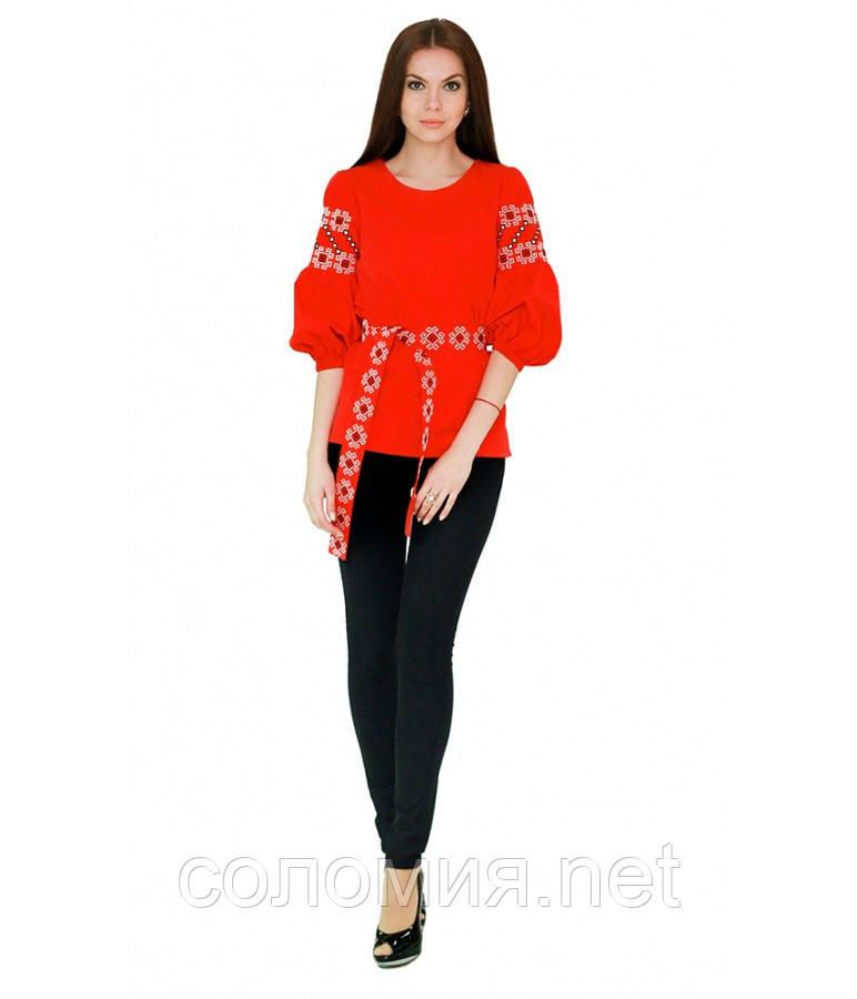 Рубашка вышитая женская красная