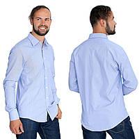 Рубашка мужская в тонкую т.синюю полоску.Длинный рукав 5f5a394db6960
