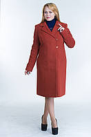 Пальто женское №22 р. 46-54 терракот