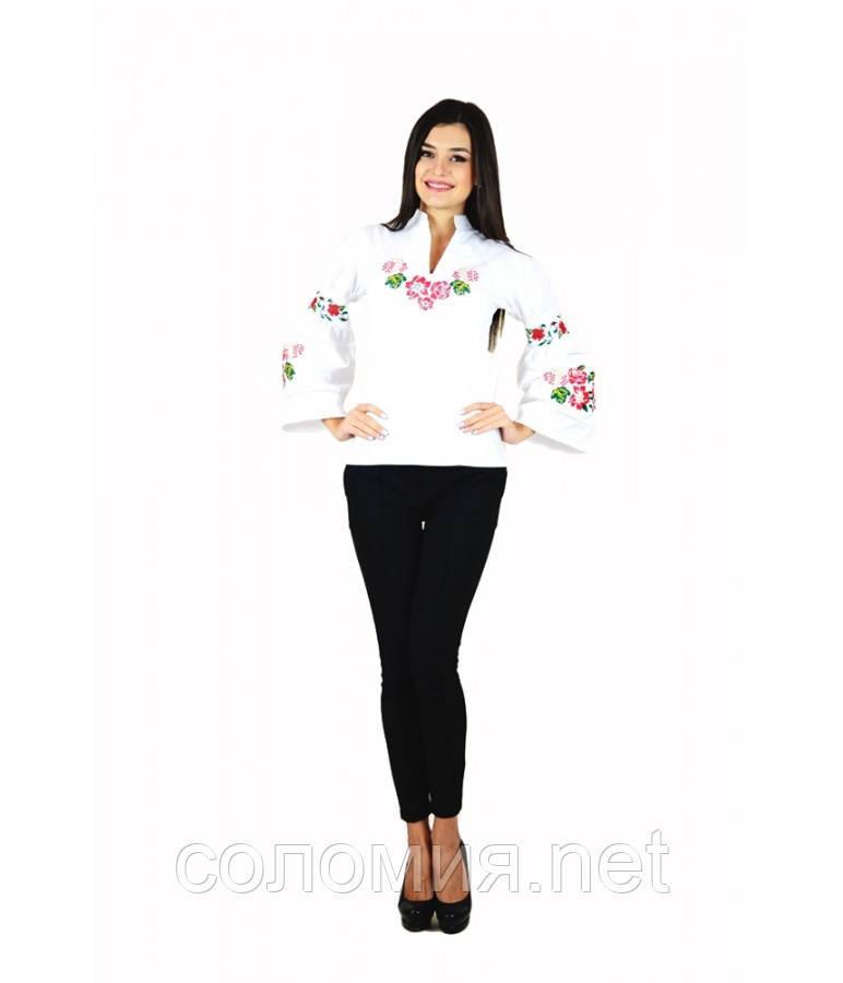 Рубашка «Розы» белая