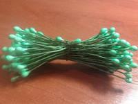 Декор и материалы для поделок ручной работы:Тычинки глянцевые зеленые