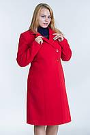 Зимнее женское пальто №22 р.46-54 красный