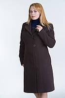 Пальто женское №22 р. 48;50;54 коричневый