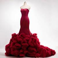 Розкішне довге плаття силует русалка, фото 7