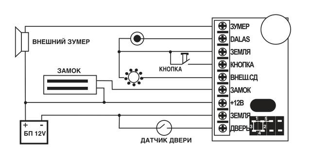 Matrix 2 K — считыватель + контроллер системы управления доступом