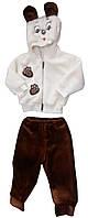 Махровый костюм для новорожденных «Мишка», капюшон с мордочкой и ушками, коричневые штанишки, 22-26, Украина