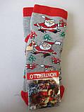 Детские махровые носки с новогодним принтом., фото 6