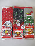 Детские махровые носки с новогодним принтом., фото 8
