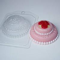 Формы пластиковые для мыла и бомб:Пластиковая форма Тортик