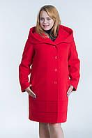 Зимнее женское пальто №21 р.48-54 красный