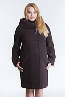 Зимнее женское пальто №21 р.48-54 шоколад