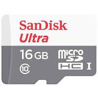Карта памяти SANDISK 16GB microSDHC class 10 UHS-I (SDSQUNB-016G-GN3MN)