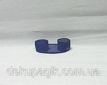 Лента из мешковины, Синяя, 2,5см