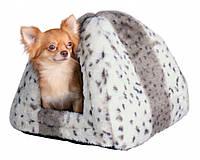 Домик Trixie Leila Cuddly Cave искусственный мех, бело-бежевый, 40х40х30 см