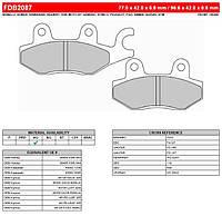 Тормозные колодки Ferodo FDB2087AG