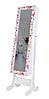 Напольное зеркало в раме TK 008 с нишей для белья. цветы (Лотос-М)