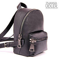 Черный рюкзак с крупными дизайнерскими молниями, фото 1