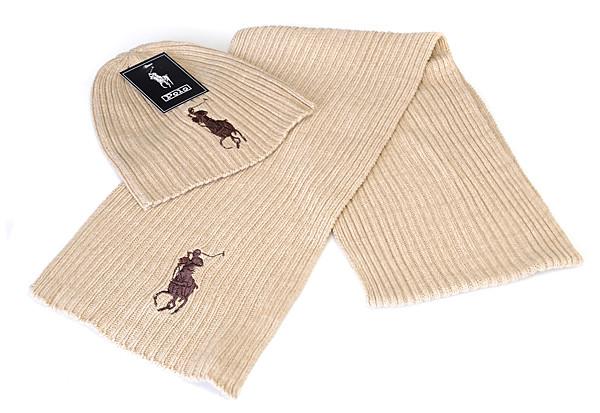 Разные цвета RALPH LAUREN шапка + шарф вязаные для взрослых и подростков хлопок ралф лорен