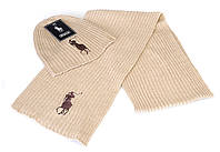 Разные цвета RALPH LAUREN шапка + шарф вязаные для взрослых и подростков хлопок ралф лорен, фото 1