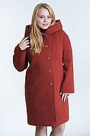 Зимнее женское пальто №21 р.48-54 рыжий
