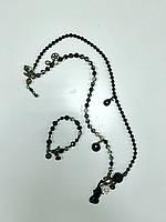 Комплект Exoal из натуральных камней(бусы+браслет)
