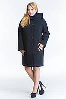 Зимнее женское пальто №21 р.48-54 черный