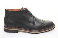 Распродажа со склада по оптовым ценам!!Ботинки зимние мужские   кожаные  TOP - HOLE  black (ТОП ХОЛ)