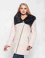 Зимнее пальто с мехом №42 в расцветках р. 42-48