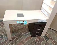 Маникюрный стол с стеллажом и подсветкой