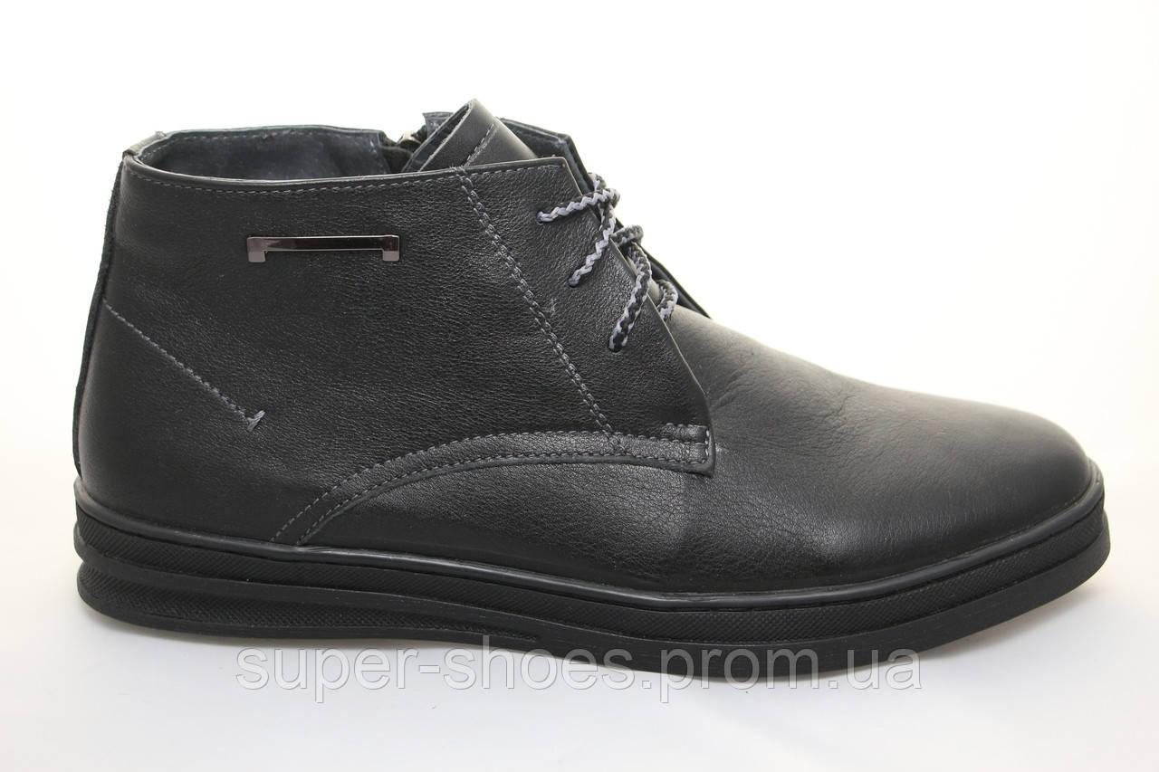 de4fe389 Распродажа по оптовым ценам!! Зимние мужские кожаные ботинки на меху -