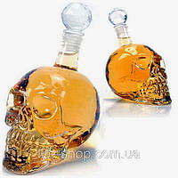 Графин в форме черепа с пробкой средний оригинальный подарок