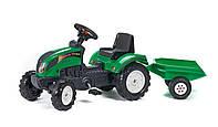 Трактор педальный с прицепом Ranch  Falk зеленый