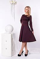 Стильное женское платье из плотного трикотажного