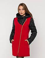Зимнее пальто комбинированное №43 в расцветках р. 42-48