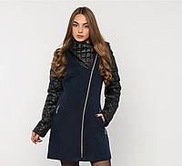 Зимнее пальто комбинированное №43\1 в расцветках р. 50-60