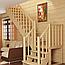 Лестница двухмаршевая. С дерева, МДФ, искуственого камня. Под заказ, фото 6