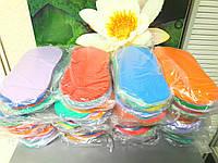 Тапочки одноразовые гладкие 10 пар в упаковке плотность 3мм Люкс
