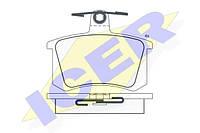 Тормозные колодки задние Audi 100/A6 C4 1990-->1997 Icer (Испания) 180784-700