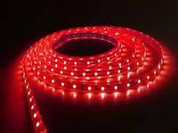 Лента светодиодная LED 3528 Red 60 12V без силикона (красный цвет)