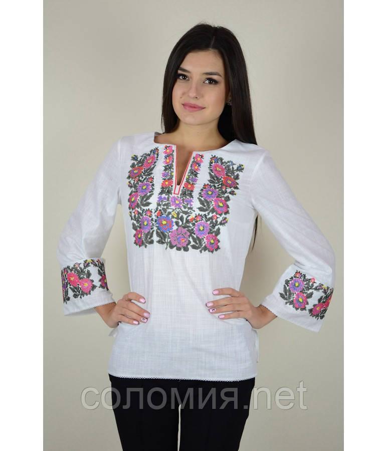 Рубашка вышитая женская  белая