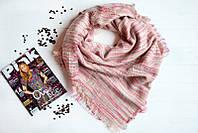 Нежно-розовый женский платок в полоску