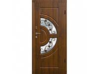 Дверь входная уличная утепленная с ковкой Arma™ модель 304 тип 3 Витраж+Ковка
