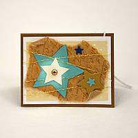 Мини-открытка ручной работы. Рождественская звезда