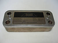 Теплообменник вторичный Ariston Class, Genus. BS (16 пластин).Art. 65104333, 65104263, 65104451